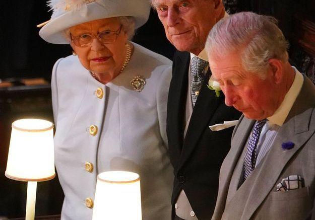 La reine, le prince Philip et le prince Charles