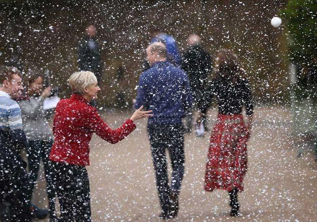De la fausse neige au palais !
