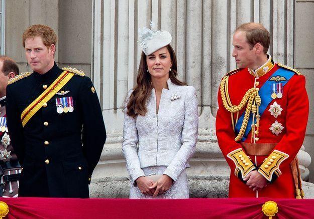 Kate Middleton, William et Harry au départ du Tour de France