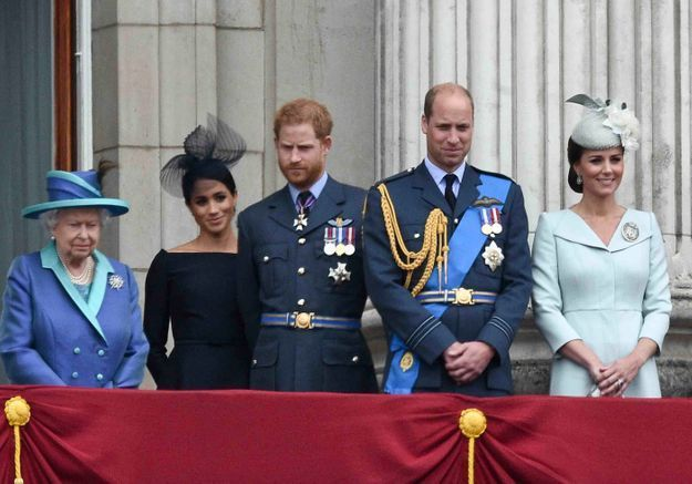 Kate, William et la reine Elizabeth II célèbrent les 39 ans de Meghan Markle