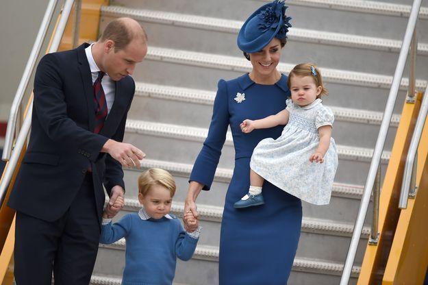 Le prince William, le prince George, Kate Middleton et la princesse Charlotte