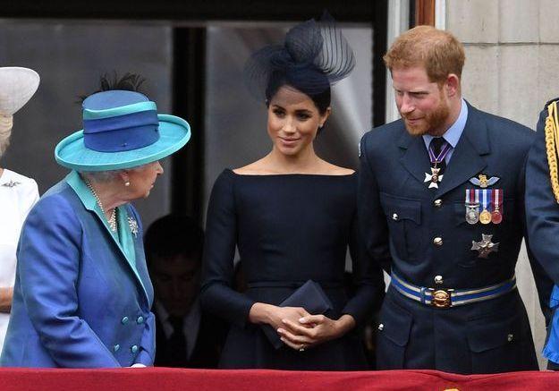 La reine Elizabeth II, Meghan Markle et le prince Harry