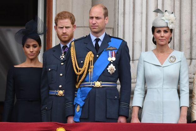 Meghan Markle, le prince Harry, le prince William et Kate Middleton