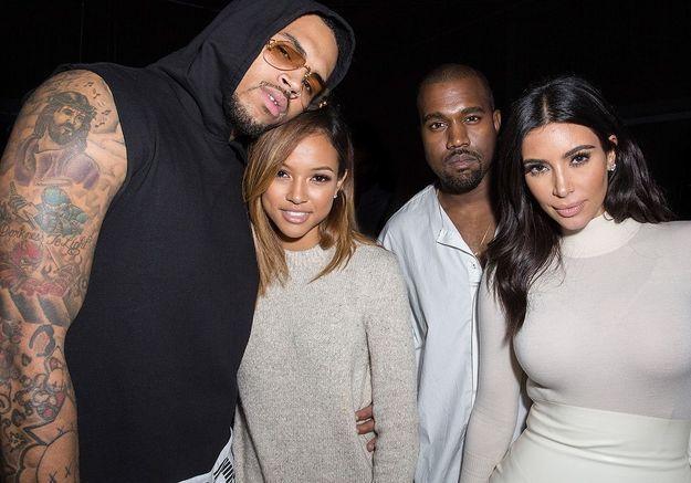 Kim Kardashian aurait snobé la copine de Chris Brown à une soirée