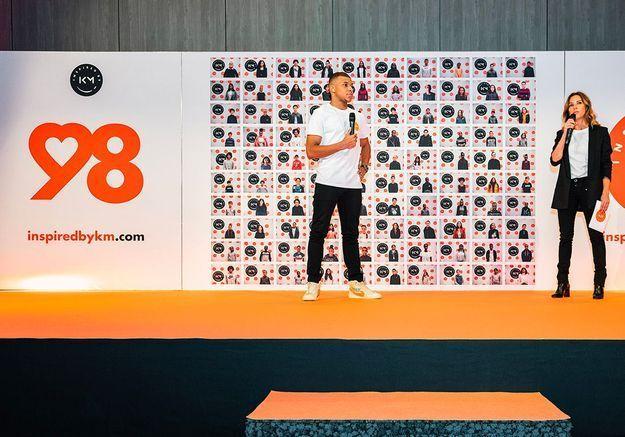 Kylian Mbappé présente « Inspired by KM » et aide 98 jeunes à exaucer leurs rêves