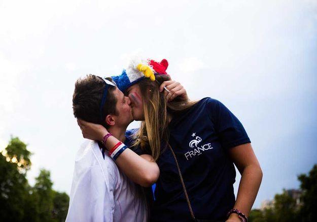 Un baiser pour les champions !