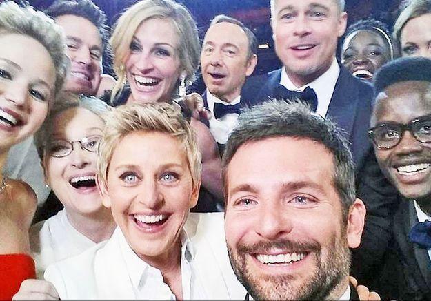 La véritable histoire du selfie des Oscars 2014