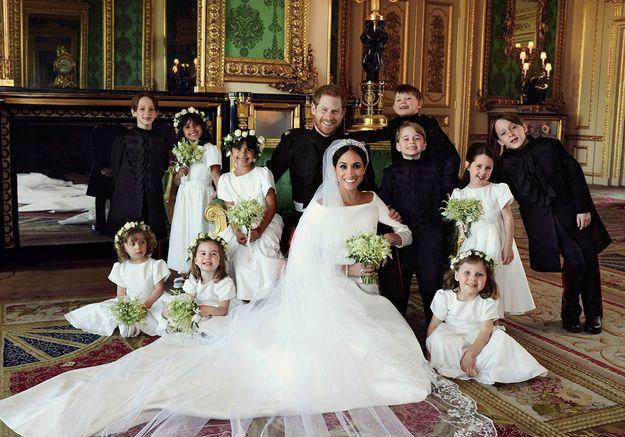 Harry et Meghan et leurs enfants d'honneur