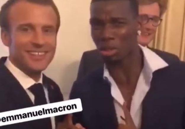 Paul Pogba et Emmanuel Macron