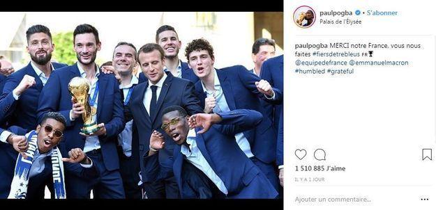 Paul Pogba fier d'avoir été reçu à l'Elysée