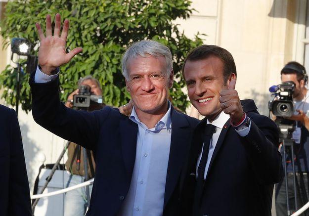 Avec Didier Deschamps