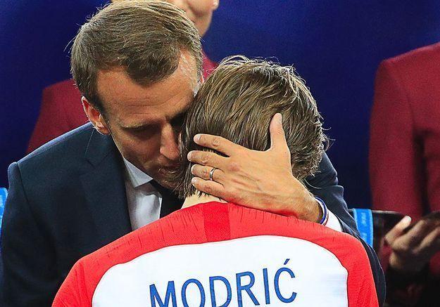 Avec le Croate Modric