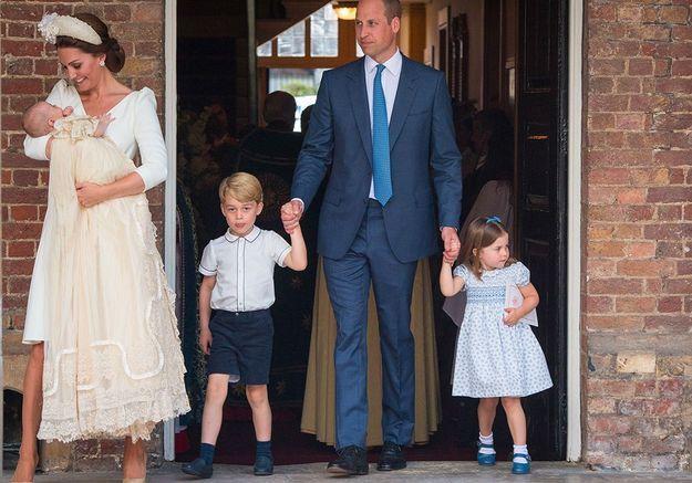 Le baptême du prince Louis, en juillet