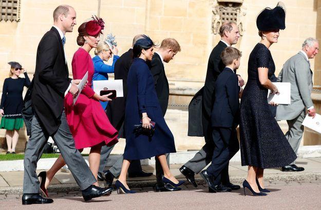 Meghan Markle et son mari accompagné du prince William et de Kate Middleton