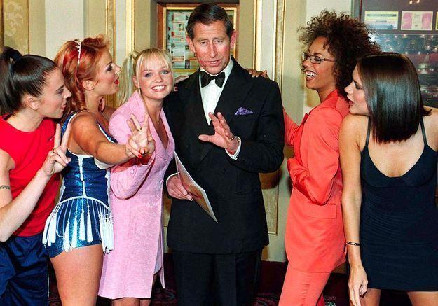 Les Spice Girls et le prince Charles