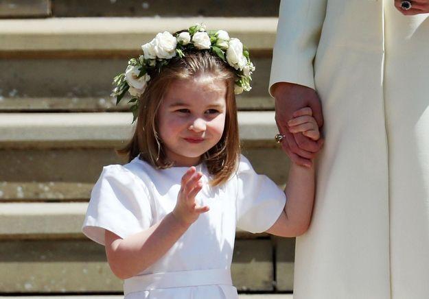 Photos-Mariage du prince Harry et Meghan Markle : George et Charlotte, magnifiques enfants d'honneur