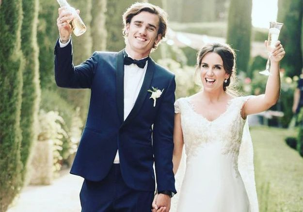 Antoine Griezmann et Erika Choperena
