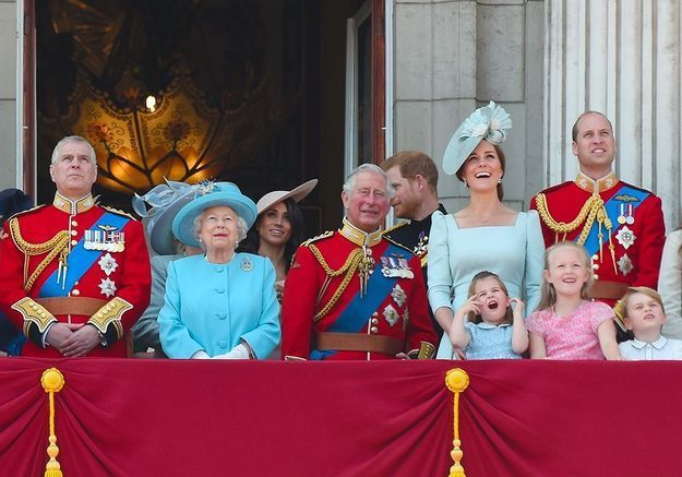 Trooping the colours