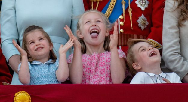 Les enfants royaux étaient fous de joie