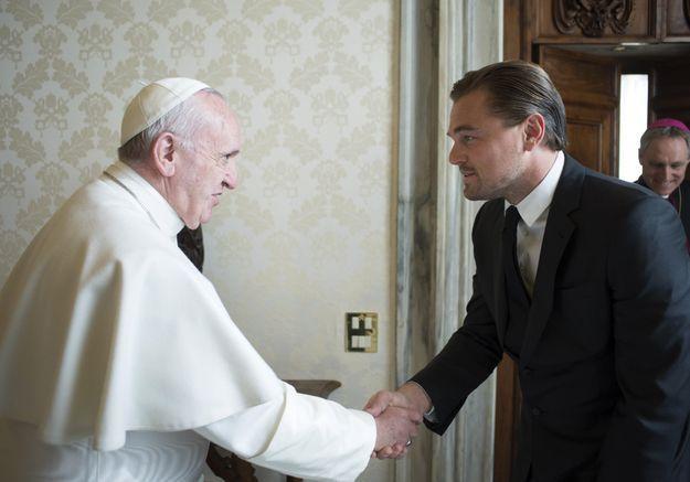 Quand Leonardo DiCaprio rencontre le pape François