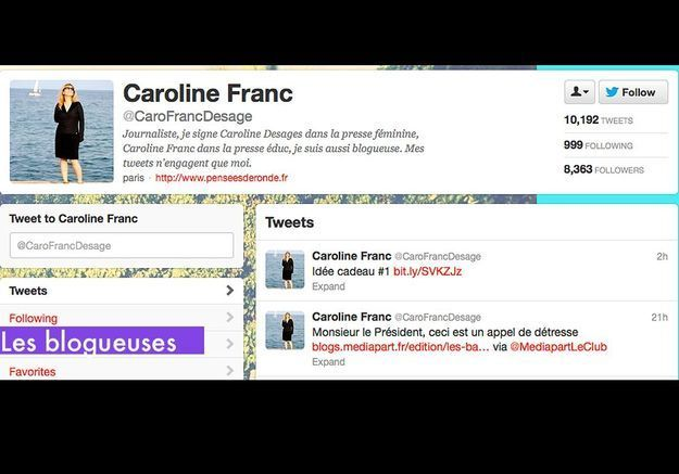 Les Blogueuses Caroline Franc