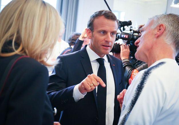 Les Macron avec Didier Deschamps