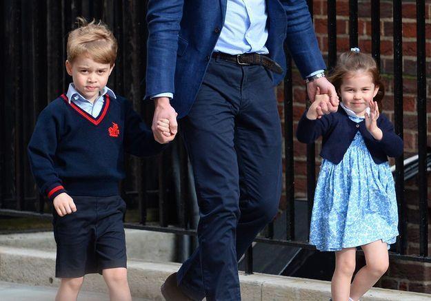 Fin avril, à la naissance de leur frère, le prince Louis.