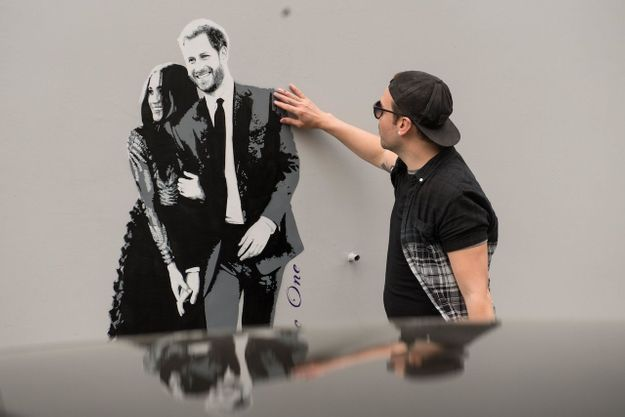 Meghan et Harry, version street art