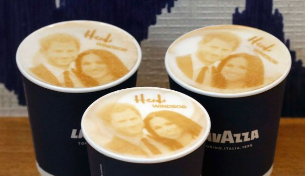 Un cappuccino à l'effigie du couple royal