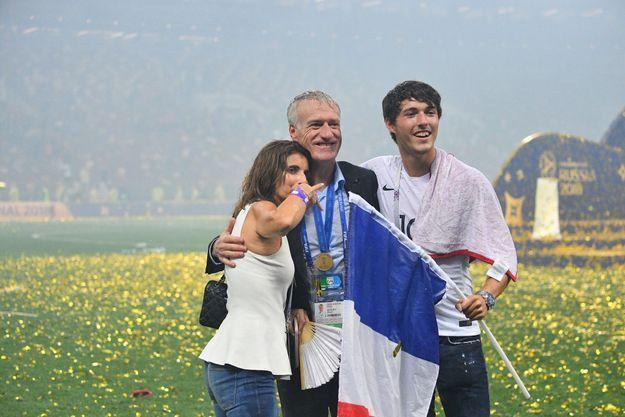 Didier Deschamps, sa femme Claude et son fils Dylan