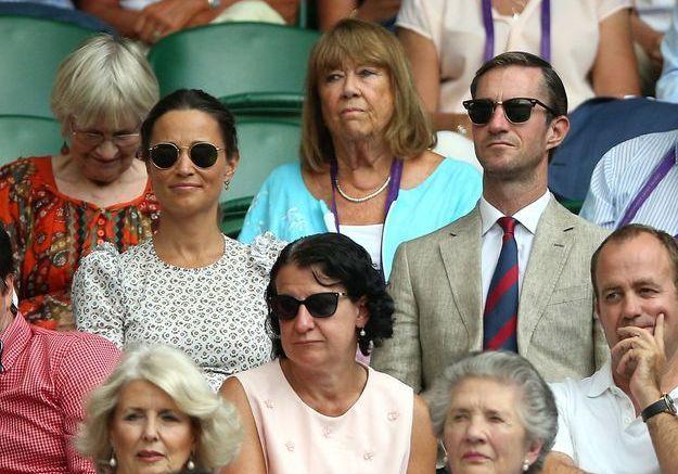 Elle a pu assister au tournoi de Wimbledon, aux côtés de son époux