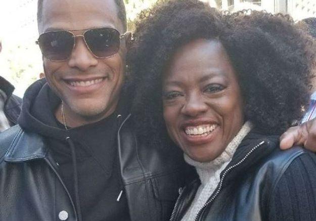 L'actrice Viola Davis accompagnée du chanteur Maxwell