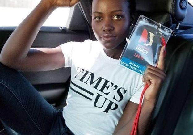Lupita Nyong'o en route pour la Women's March