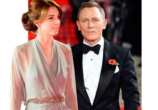 """Daniel Craig au service de sa Majesté Kate Middleton sur le red carpet de """"Spectre"""""""