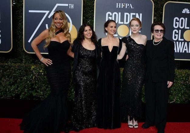 Mariah Carey, America Ferrera en Christian Siriano, Natalie Portman en Dior Haute Couture et Emma Stone en Louis Vuitton