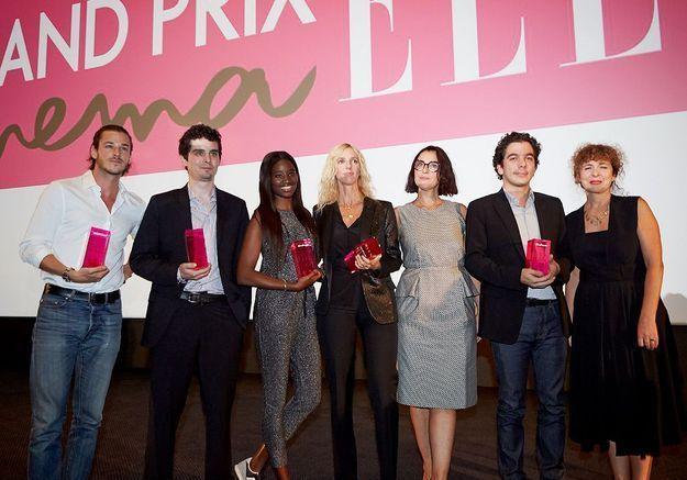 Les gagnants du Grand Prix Cinéma ELLE 2014 avec Valérie Toranian et Florence Ben Sadoun