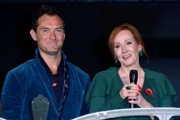 Jude Law et J.K Rowling à l'avant-première « Les Animaux fantastiques 2 »