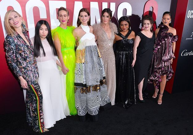 Rihanna, Sandra Bullock, Anne Hathaway : casting de rêve à l'avant-première d'Ocean's 8 !