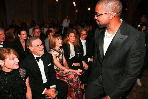 Kayne West, Steven Spielberg, Kate Capshaw, Anna Wintour, Blake Lively et Paul Feig