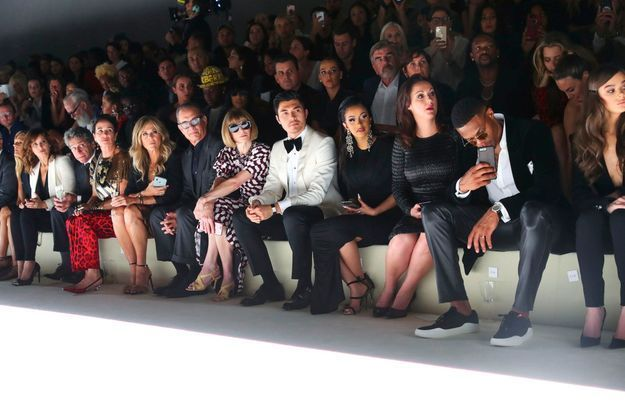 Le front row au défilé Tom Ford