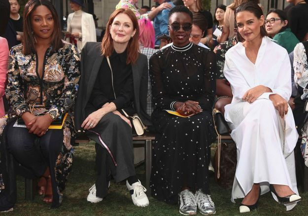 Tiffany Haddish, Julianne Moore, Danai Gurira et Katie Holmes au défilé Tory Burch