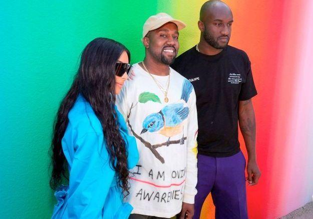 Kim Kardashian, Kayne West et Virgil Abloh