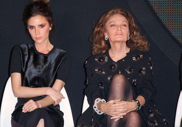 Victoria Beckham et Diane von Furstenberg au défilé Woolmark