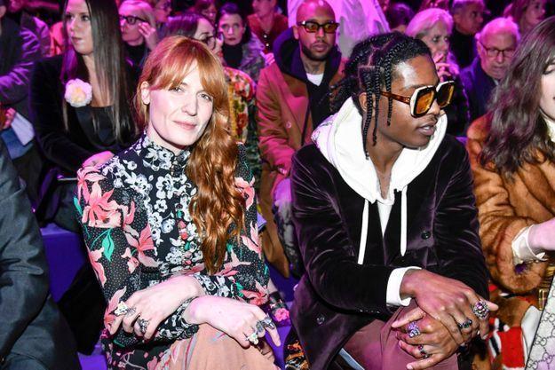 Florence Welch et Asap Rocky au défilé Gucci