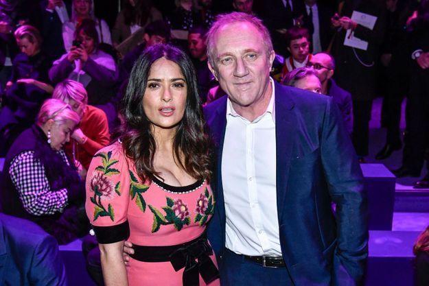 Salma Hayek et François-Henri Pinault au défilé Gucci