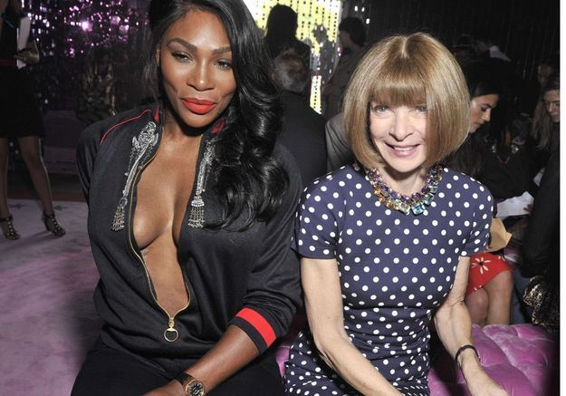 Serena Williams et Anna Wintour au défilé Gucci