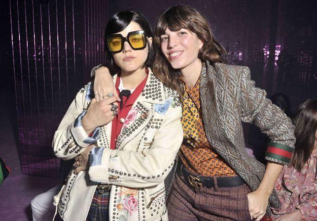 Soko et Lou Doillon au défilé Gucci