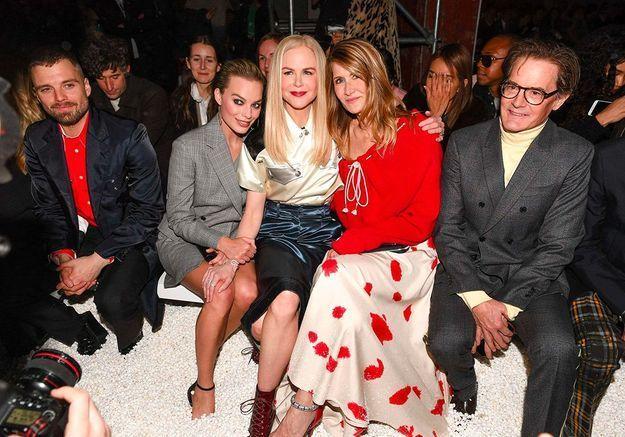 Les stars ont les pieds dans du pop corn au premier rang du défilé Calvin Klein !