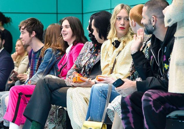 Le front row du défilé Gucci