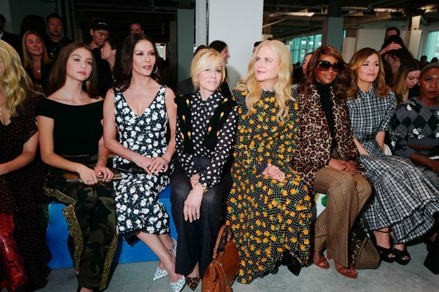 Carys Zeta Douglas, Catherine Zeta-Jones, Judith Light, Nicole Kidman, Iman et Rose Byrne au défilé Michael Kors